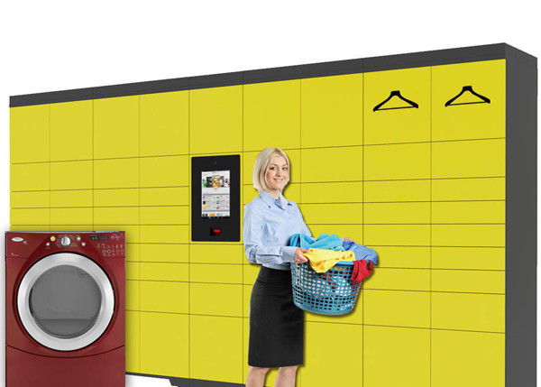 Self Service Intelligent Digital Laundry Locker with SMS Message Sending Indoor